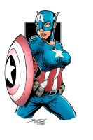 Female Captain America by firepunk626