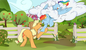 AppleDash nuzzle [commission] by grethzky