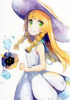Lillie and Cosmog by jojostory