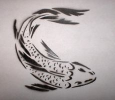 koi stencil by KING-ERIKisnoone