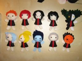 All akatsuki plushies by lostrunaway