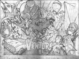 venture bros poster pencils by VASS-comics