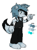 Dante The Husky (Fursona) by FrostBurned-Soul