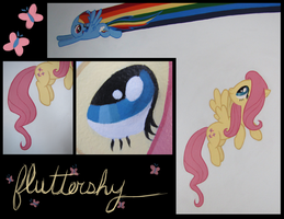 Fluttershy Wall Mural (Assorted) by Alouncara