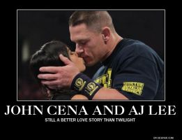 John Cena And AJ Lee by AlphaMoxley95