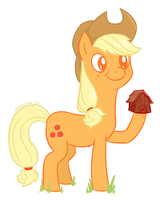 Applejack is hooving you a barn by wry-owl