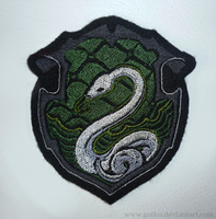 Patch commission: HP Slytherin crest by goiku