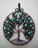 Playful Purple Tree of Life *SOLD* by RachaelsWireGarden
