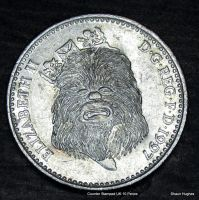 Chewbacca Star Wars Stamped UK 10 Pence by shaun750