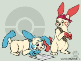 Nifty + Drifty -Pokemon Crafts by CanineHybrid