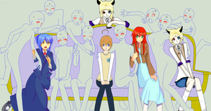 Class Photo ...Collab... by The-Insane-Puppeteer