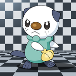 Brave Oshawott removing its scalchop by IndigoWildcat