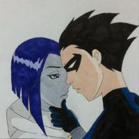 Raven/Nightwing 1 by BesosDraws