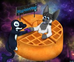 SPACE WAFFLE CAKE!!! by Sharindan-dragon