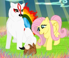 Ammy and fluttershy by Navy-x