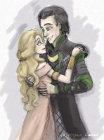 Loki and Sigyn being adorbs by MademoiselleMeg