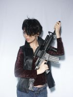 Woman With Gun 2 by cyber-stock