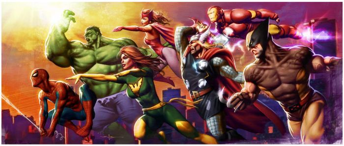 Heroes Attack by Valzonline