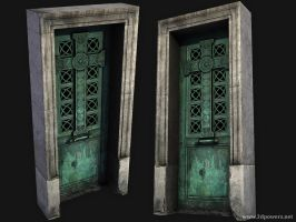 Low Poly Crypt Door by JPowers