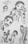 Midousuji sketches by 1Icec1