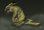 Infected Pikachu by The-Clockwork-Crow