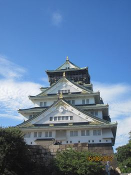 Oosaka Castle by agyko