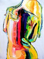 Abstract Palette Knife Painting Image