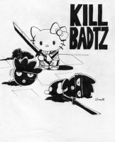 Hello Kitty in: 'Kill Badtz' by Sea-Salt