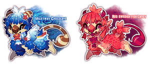 Milkyway and Swedish Fish Scorplins Auctions by dexikon