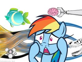 Rainbow Dash in weird world by Mojo1985