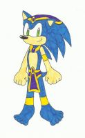 Sonic in an Arabian or Asian outfit by KatarinaTheCat