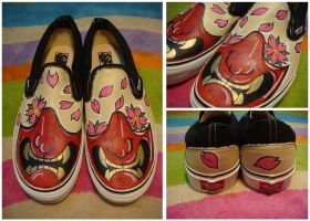 Half-Mask Custom Shoes by Alandy