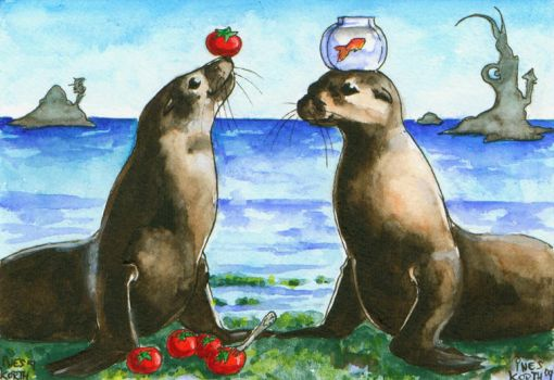 Two Seals by Tacaret