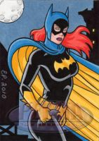 Batgirl Sketch Card by ElainePerna
