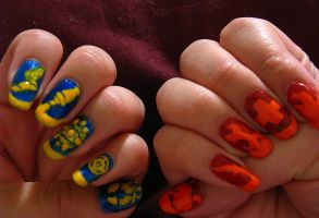 TF2 Icons nail art by crtoonmastr