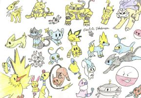 All of the Electric Pokemon by MineralRabbit
