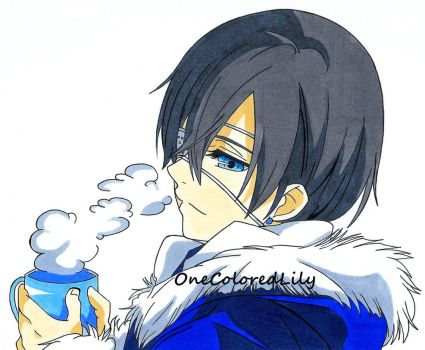 Ciel and Hot Cocoa by OneColoredLily