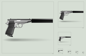 Walther PP silenced - icon by hbielen