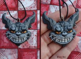 Cheshire cat - necklaces by MaryDec