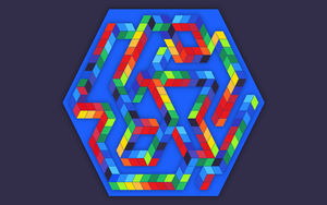 Inspired by Victor Vasarely - Babel-3 by Manshonyagger