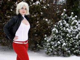 Casual Power Girl in the Snow by Red-Ribbon-Cosplay