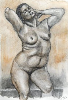 Figure study, drawing, Sep '16 by roy-p