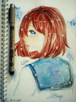 Original character (watercolor) by luulyhatsu