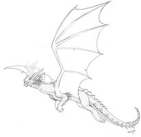 Dragon Lineart by Nerual-56