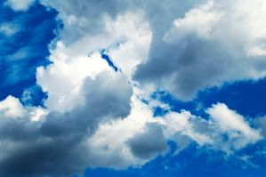 White and blue clouds by vallo29