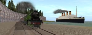 RMS Titanic and Flying Scotsman by poke-fan-400