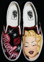 Marilyn Monroe Vans by SwissDutchess