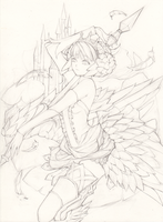 Odin Sphere_Gwendolyn (Line Art) by Princess--Ailish