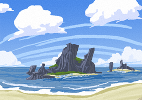 praia 2 - wind waker style by rocketcica
