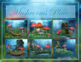 Mushroom Place backgrounds by moonchild-ljilja